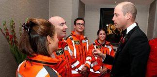 William meets air ambulance doctors paramedics and crew at gala dinner Image PA