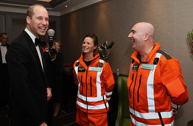 William used to be an air ambulance pilot Photo C GETTY IMAGES