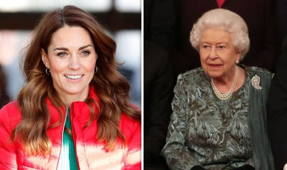 Kate Middleton and the Queen