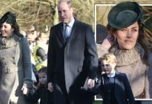 Kate arrived at church with William Princess Charlotte and Prince George Image PA