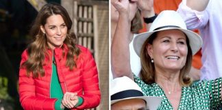 Kate matched jumpers with her mother Carole Image Getty Images