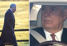 Prince Andrew didnt attend the am service Image PA