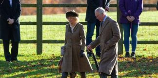 Prince Charles and Camilla chatted to fans as they made their way home from church Image Geoff Robinson