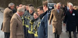 Prince Charles is meeting with residents affected by the flood in Fishlake Image Dan Johnson BBC