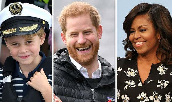 Prince George Prince Harry and Michelle Obama Image Getty