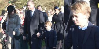 Prince George debuts at Sandringham as he arrives with Kate and William to church Image PA