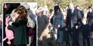 Princess Charlotte arrives her first Christmas Day service at Sandringham with Kate Image PA