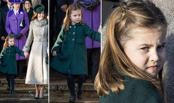 Princess Charlotte curtsy the Queen Kate Middleton
