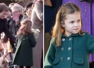 Princess Charlotte refused to hand over to a royal aide a bouquet of flowers she received on Christmas Day Image TERRY HARRIS GETTY