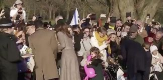 Princess Charlotte shared a cuddle with a royal fan Image BBC