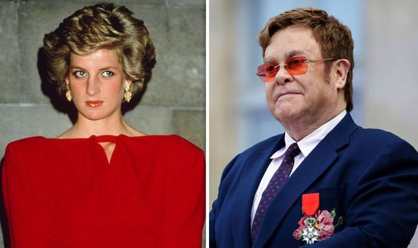 Princess Diana and Elton John Image Getty