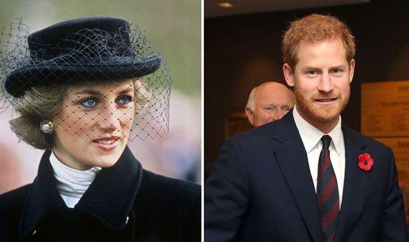 Princess Diana and Prince Harry Image Getty