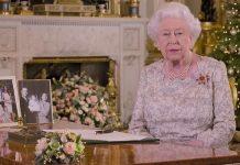 Queen Elizabeth II delivering her Christmas speech last year Image bbc
