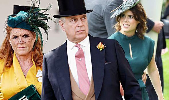 Sarah Ferguson and Prince Andrew; Princess Eugenie