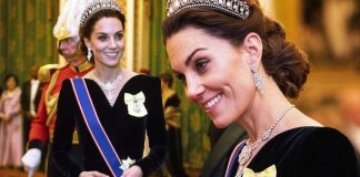 The Duchess of Cambridge dazzled when she stepped out for palace for the Diplomatic Corps Image PA•GETTY