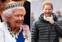 The Queen and Prince Harry Image Getty
