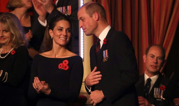 William and Kate at the Remembrance service recently