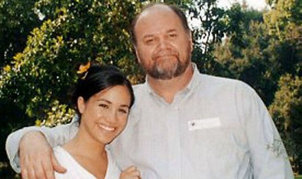 Meghan with her father Thomas