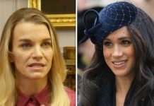 Julie Montagu and Meghan Markle