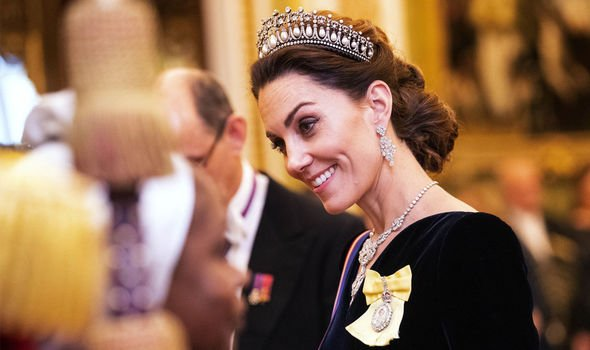 Kate was awarded Dame Grand Cross of the Royal Victorian Order on her eight wedding anniversary
