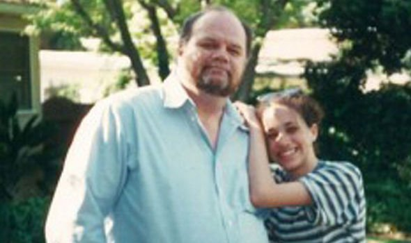 Meghan Markle, pictured as a child with her father