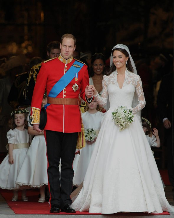 Kate Duchess of Cambridge and Prince William wedding