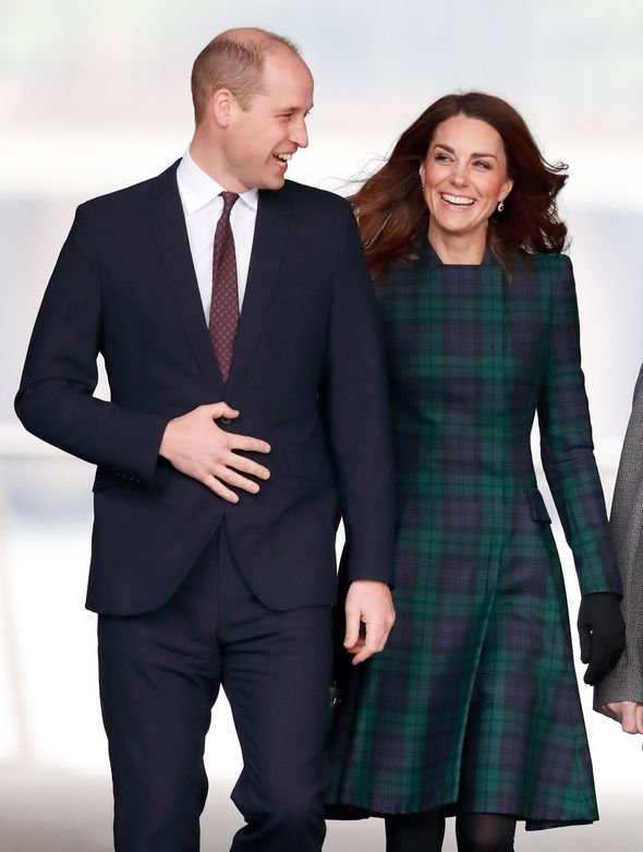 Kate Duchess of Cambridge and Prince William hold hands