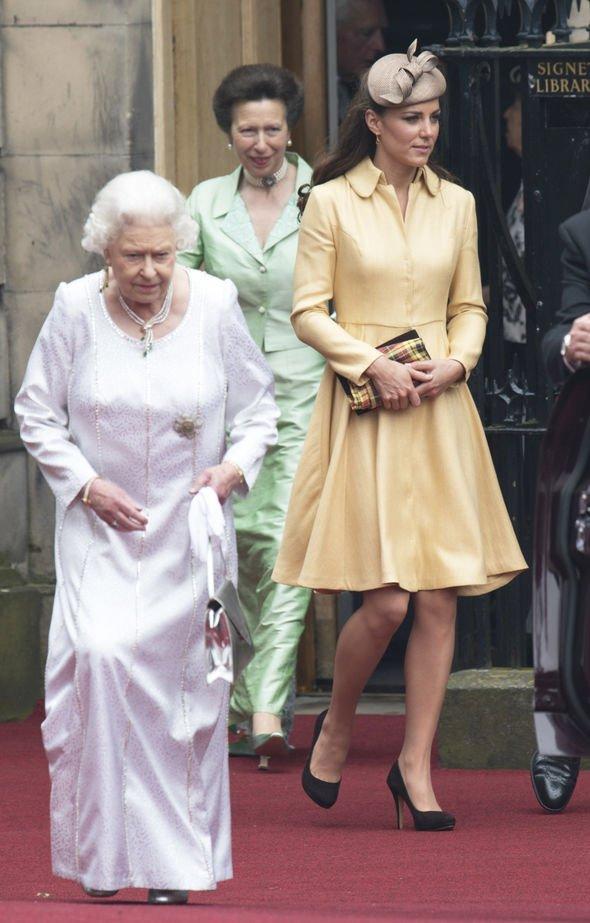Kate Middleton: Queen Elizabeth II body language