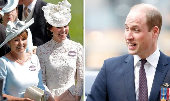 Carole and Kate Middleton; Prince William