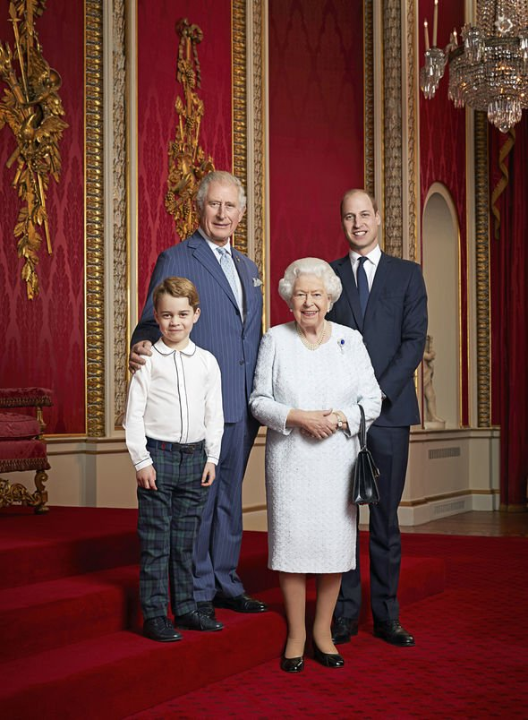 Prince George portrait with the Queen