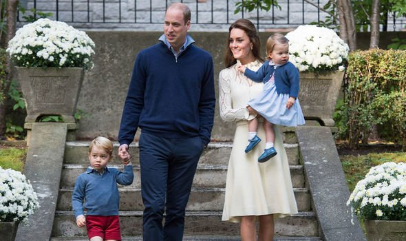 Royal glee: Kate was buying Halloween costumes for George and Charlotte