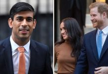 Rishi Sunak, Prince Harry and Meghan Markle