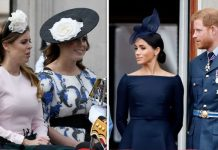 Princess Beatrice and Princess Eugenie; Prince Harry and Meghan Markle