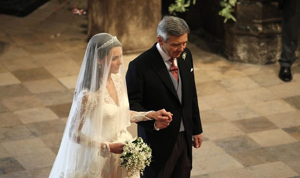 Michael walked his daughter down the aisle when she married William in 2011