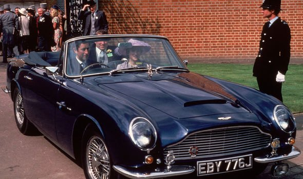 Charles and Diana in the same Aston Martin back in 1981