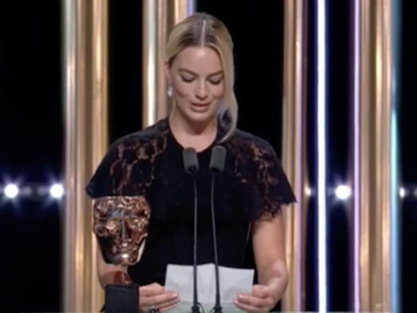 Margot Robbie read out Brad Pitt's acceptance speech at the BAFTAs