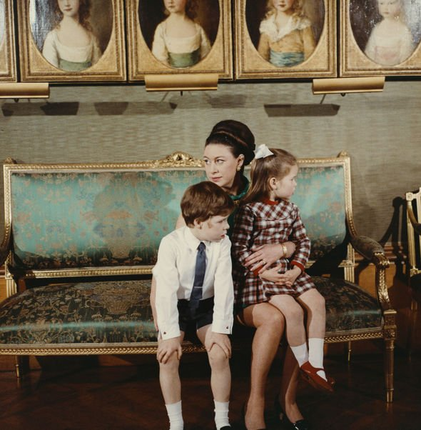 Princess Charlotte title SNUB: Princess Margaret with son David and daughter Sarah