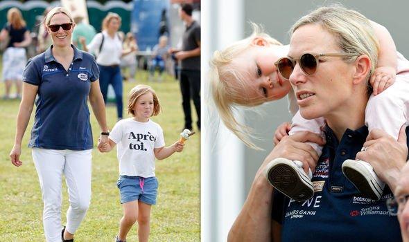 Royal heartbreak: Zara and children