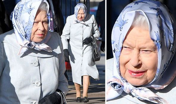 The Queen looked stern as she left Sandringhm