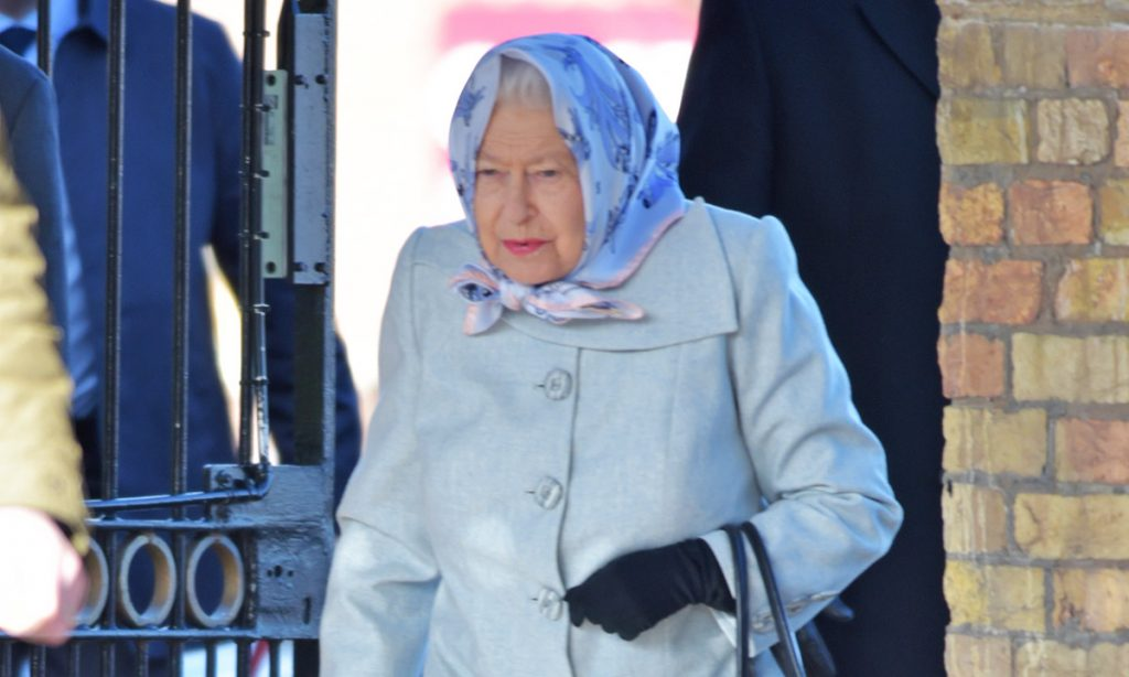 The Queen officially ends her winter break and returns to London following Peter Phillips marriage split Photo C GETTY IMAGES