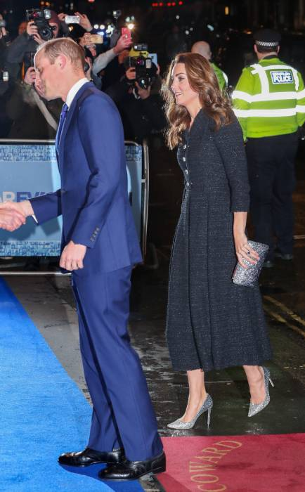 prince william kate middleton arriving at theatre london