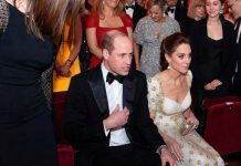 prince william video kate middleton bafta red carpet pics dress duchess of cambridge