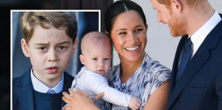Prince George, Archie with Meghan Markle and Prince Harry