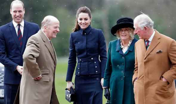 Camilla on a recent royal engagement with Charles, William and Kate