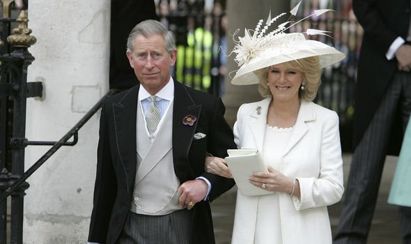 Camilla wore two outfits for her wedding day – one of the civil ceremony and another for the religious service