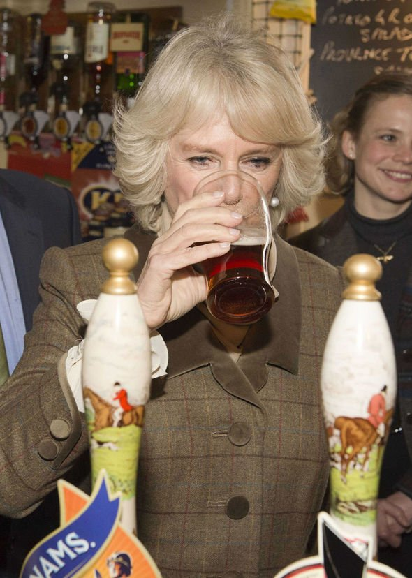 Camilla will happily sink a pint