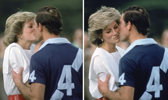 Diana news: The couple famously had many awkward public kisses in the same year (pictured June 1985)