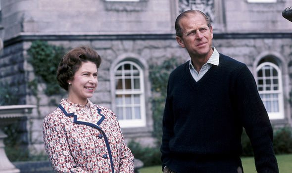 The Queen and Philip at Balmoral, the royal estate in Scotland