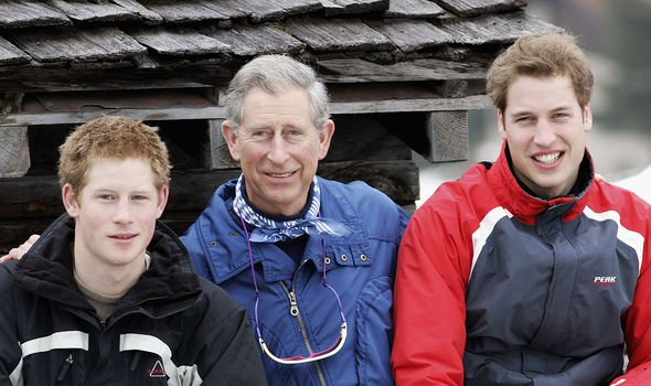 Harry, William and Charles are all keen sportsmen