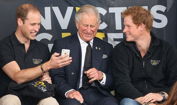 The three royals having a laugh at the Invictus Games